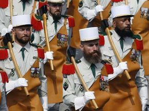 King Louis-Philippe had a hand in designing the uniforms on those French Foreign Legion soldiers parading down the Champs-Elysees in 2007.