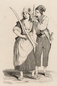 The sans-culottes shunned breeches.