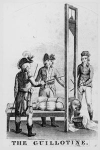 The guillotine became a symbol of terror in the French Revolution. See more pictures of the French Revolution.