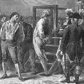 """On his way to the guillotine, Danton supposedly said, """"My only regret is that I am going before that rat Robespierre."""""""