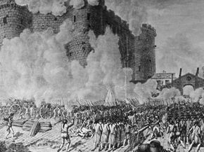 The chaos surrounding the fall of the Bastille resulted in bloody death and the desecration of the 14th-century fortress.