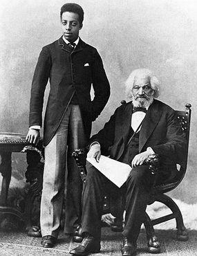 Frederick Douglass with grandson