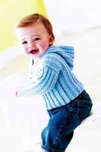 This comfortable Cabled Cardigan will keep baby warm and cozy [b]all day.