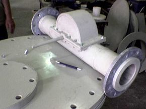 The Benkatina turbine is enclosed in a pipe so it can fit into existing piped-water systems.