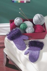 These Fun Felted Mittens will keep your hands comfortable in style. See more pictures of knitting patterns.