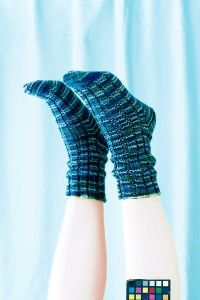 You'll want to jump for joy in Ribby Socks. See more pictures of knitting patterns.