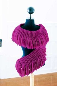 Curved and feminine -- the fabulous fringe scarf can dress up any style.