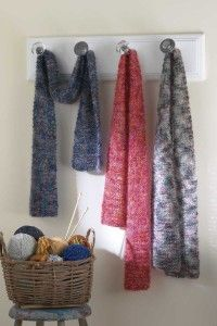 Add a little sparkle to your wardrobe with this easy scarf.
