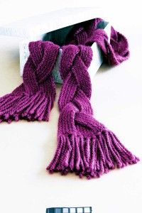 This braided scarf will look stylish with any outfit.