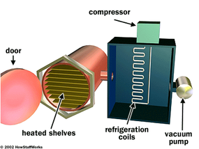 A simplified freeze-drying machine