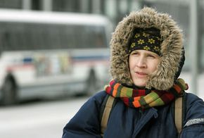 A furlined parka helps keep this Chicago woman warm in subzero wind chill.