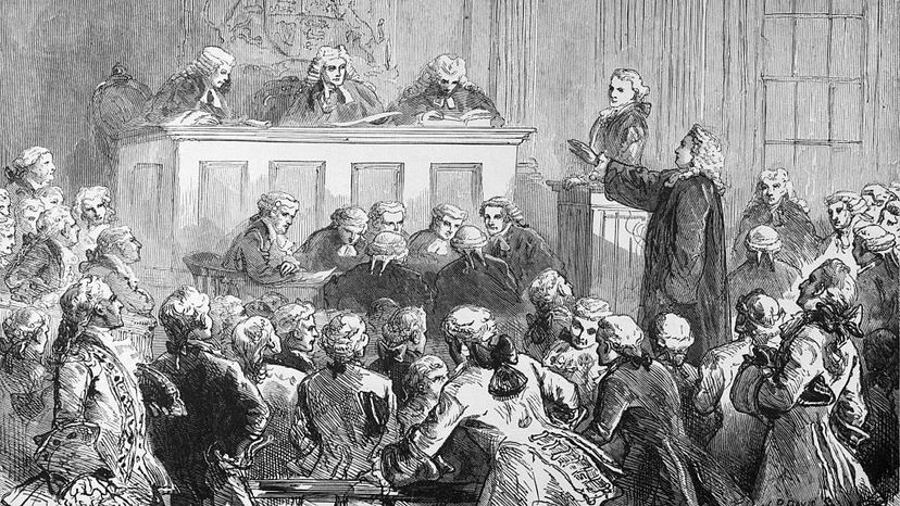The trial of John Peter Zenger in New York, 1734. The printer of the New York Weekly Journal was accused of libel, though he was acquitted. The case paved the way for freedom of the press in the United States. Bettman/Getty Images
