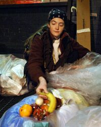 Freegans claim that there is an abundance of edible food discarded daily.