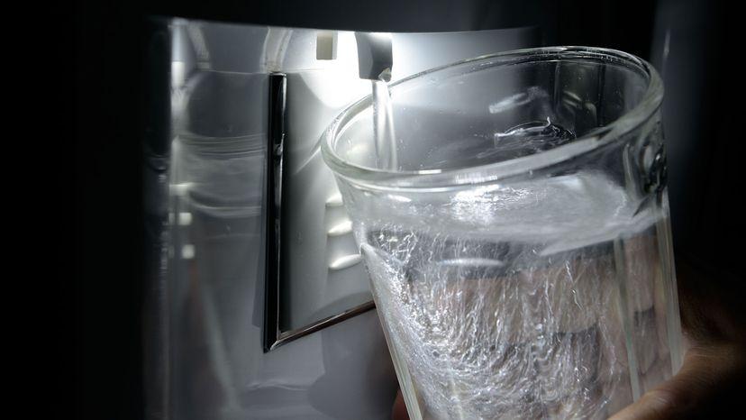 water from fridge dispenser