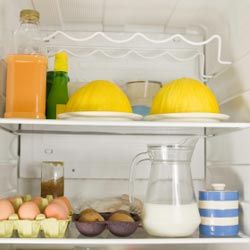 Organizing your food into groups will make transferring them back and forth much easier.