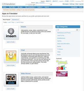Old friendster website