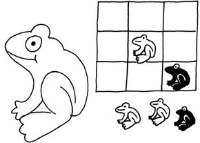 """It's """"Toads for the win!"""" with this Tic-Tac-Toads Frog Activity."""