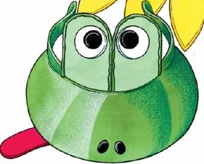 The frog visor craft puts a fun frog on your head.