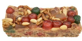 On average, a fruitcake weighs up to two pounds and contains dried or candied fruits as well as alcohol like rum. See more pictures of holiday baked goods.