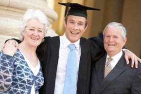 Graduation from college is often the time when parents begin to recognize their children as adults.