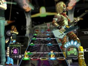 """Notice the Pontiac logo behind Izzy Sparks' head. """"Guitar Hero III"""" contains more product placement than the earlier versions."""