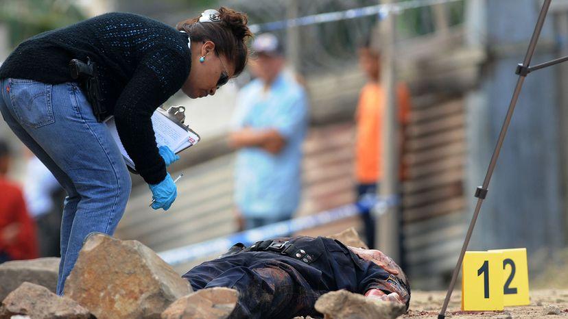 dead policeman Honduras