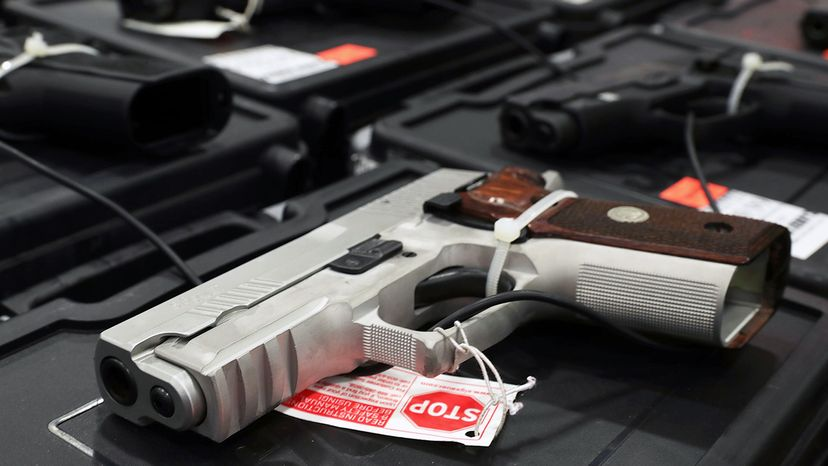Sales of handguns and rifles for self-defense have surpassed sales of other guns for recreational purposes like hunting and target shooting. Alex Wong/Getty Images