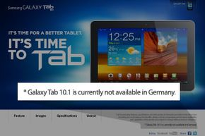 In this article, get the full story on why the Galaxy Tab 10.1 Web page includes this disclaimer.