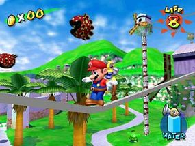 A screen shot from Super Mario Sunshine