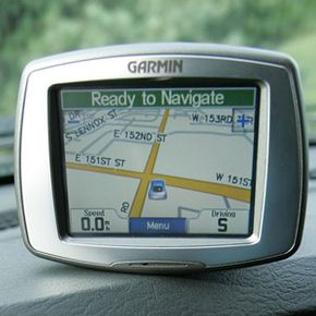 A Garmin GPS unit. See more pictures of essential gadgets.