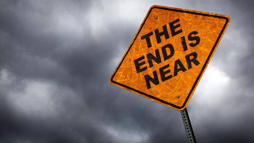 the end is near sign