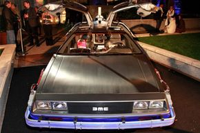 Image Gallery: Exotic Cars The retrofitted DeLorean DMC-12 at the 'Back To The Future' 25th anniversary Trilogy Blu-Ray release celebration at Gustavino's on Oct. 25, 2010, in New York City. See more pictures of exotic cars.