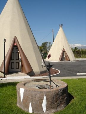 The Wigwam Motel in Holbrook, Arizona, features wigwam on the outside, mom-and-pop motel room on the inside.