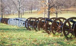 Cannons, like these at Revolutionary War National Park, probably wouldn't be around without gunpowder.