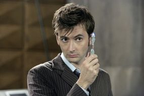 """David Tennant, The Doctor on """"Doctor Who,"""" with a sonic screwdriver: pure geek chic"""