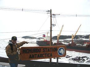 A geocache in Antarctica