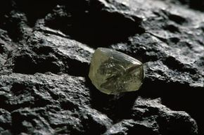 This uncut diamond, embedded in river gravel, went on display at the Kimberley Diamond Museum in South Africa.