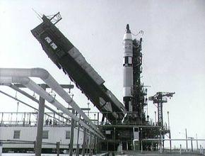 The Gemini capsule on top of the Titan II launch vehicle.
