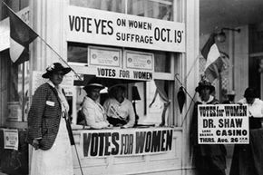 American women won the right to vote in 1920 and now vote in greater numbers than men.