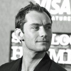 Actor Jude Law is famous for his good looks, including his cleft chin.