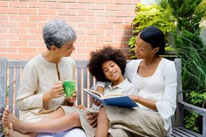 Talking with your family members can give you a lot of information to add to your book. They'll enjoy seeing the results too.