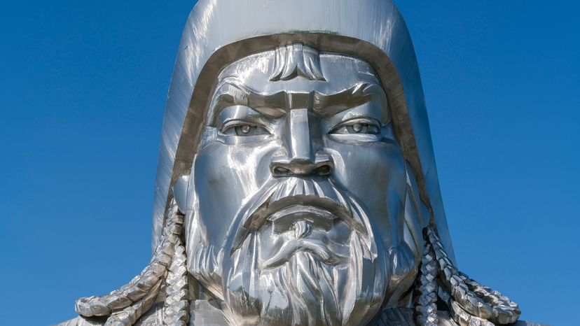 Genghis Khan Statue in Silver Casting