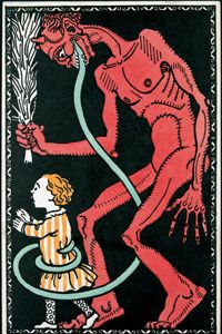 Ho, ho, holy cow, it's Krampus, the Christmas demon! Suddenly, a lump of coal doesn't seem so bad...