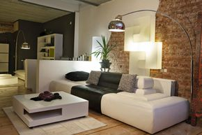 Lighting makes a big difference to the way your eye perceives space.