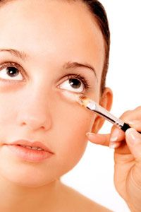 You can always use makeup to cover dark circles, but is there another option? See pictures of makeup tips.
