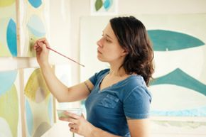Becoming a professional painter requires talent and skill. And an MFA doesn't hurt, either.