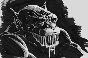 Never inquire what a ghoul is grinning about. Their humor is often grim, and the joke will likely be on you.