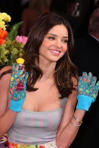 Garden gloves make a great present, like this cute pair worn by Victoria Secret model Miranda Kerr.
