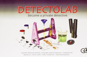 This kit includes all the stuff a budding forensic scientist would need, like a microscope and equipment for fingerprinting and deciphering secret messages.