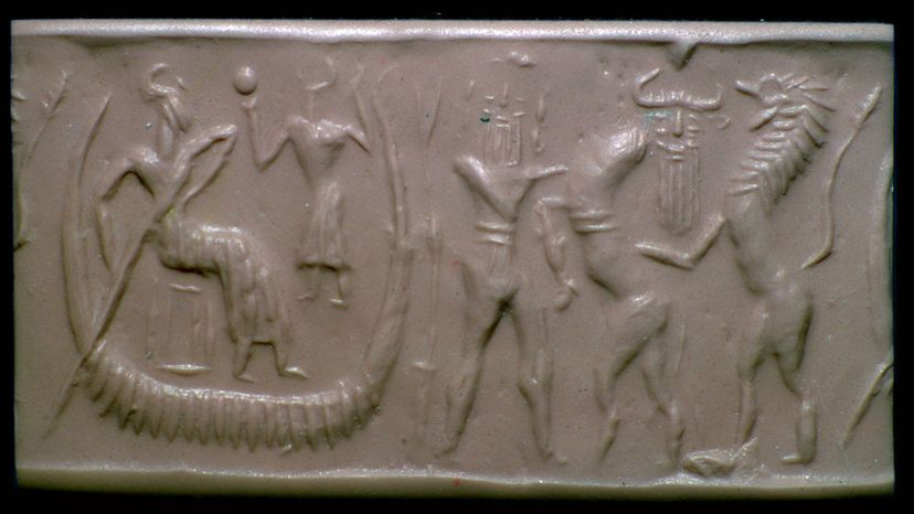 relief of the flood epic of Gilgamesh